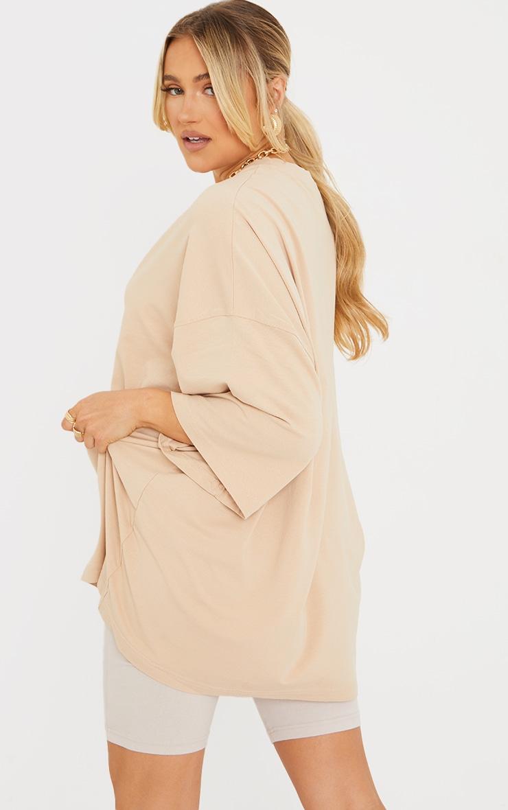 Maternity Stone Oversized Washed Cotton T-Shirt 2