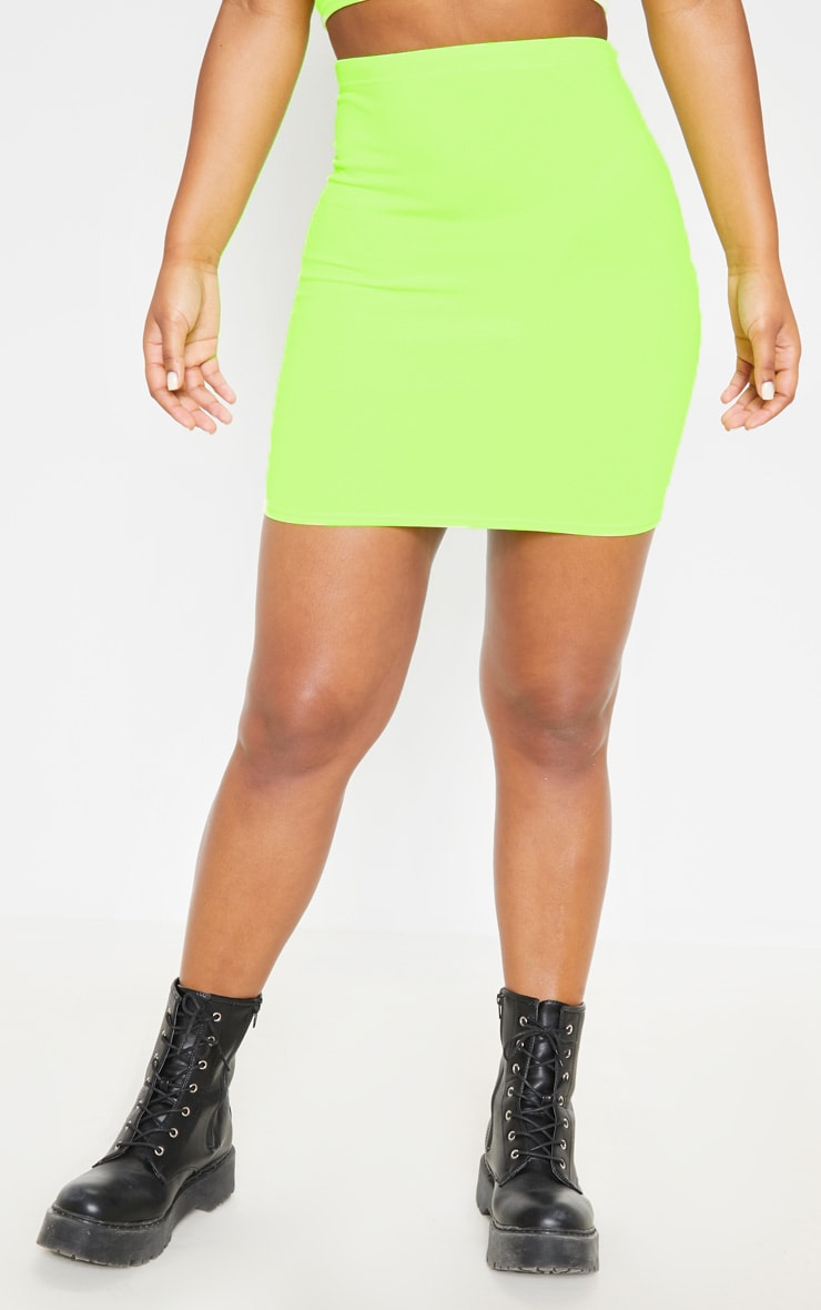 Neon Yellow Mini Skirt 2
