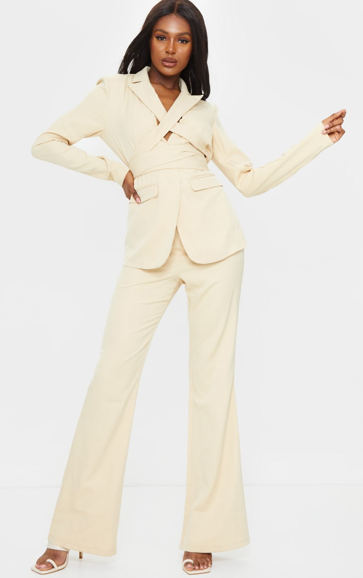 Tall Stone Fitted Flare Suit Pants 1