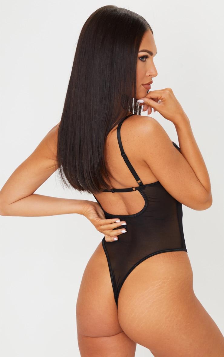 Black Scallop Lace Cut Out Body 2