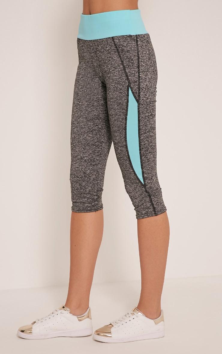 Jennie leggings courts sport bleus à bandes 4