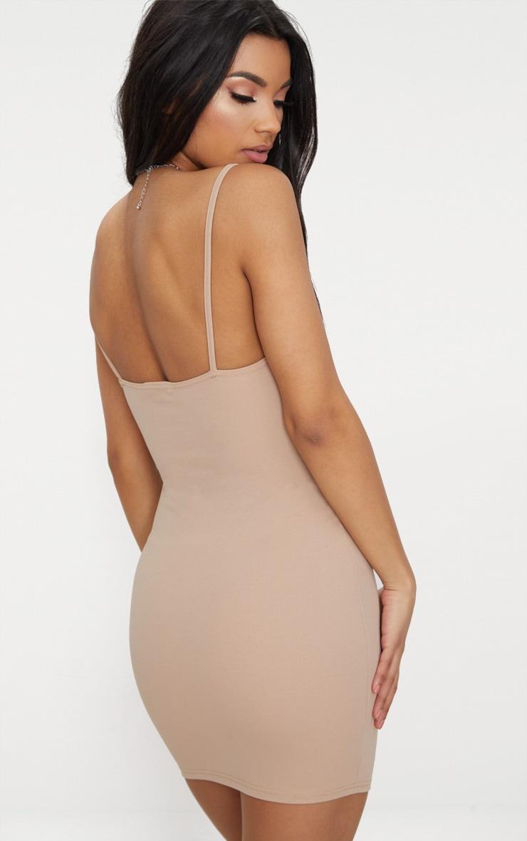 Stone Lace Strap Panelled Detail Bodycon Dress 3
