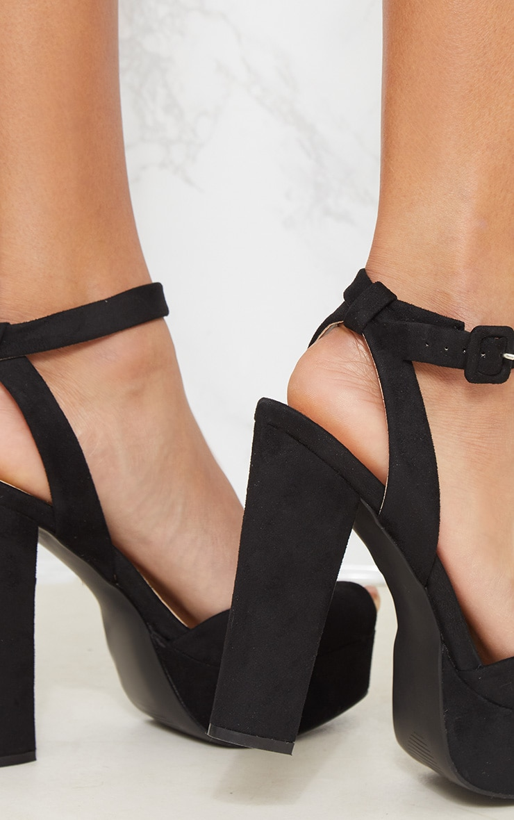 Black Platform Sandal 5