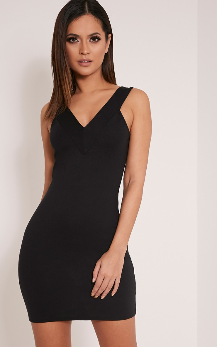 Shayla Black Ponte Plunge Bodycon Dress 1
