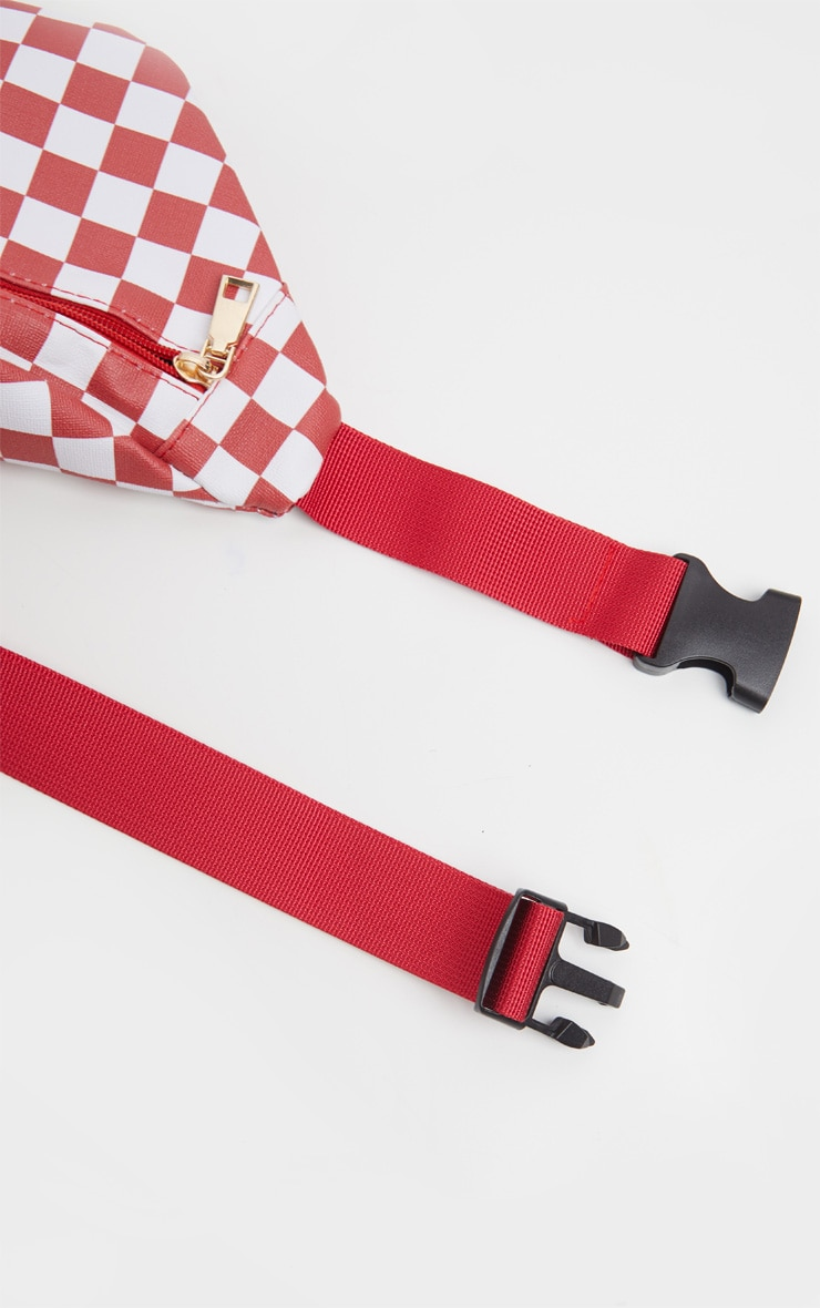 Red Checkerboard Bum Bag 4