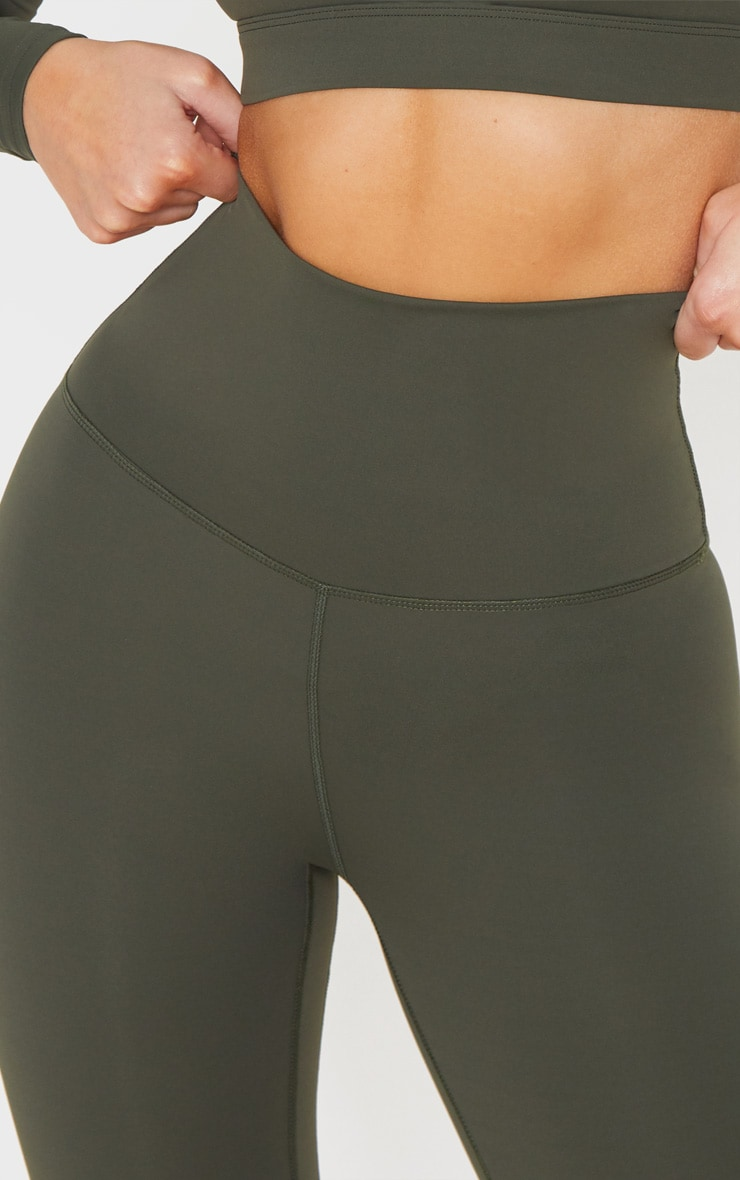 Khaki Sculpt Luxe Super High Waist Gym Leggings 4