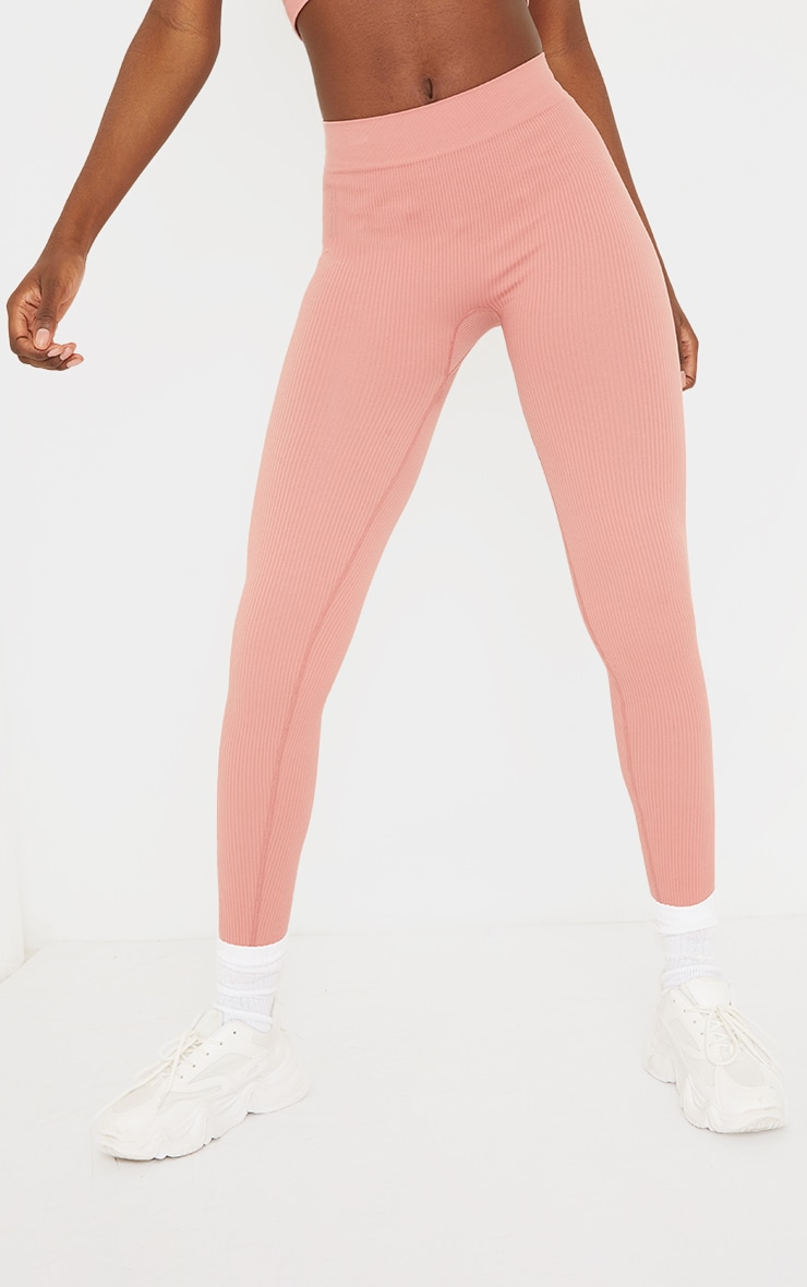 Tall Clay Structured Contour Ribbed Leggings 2