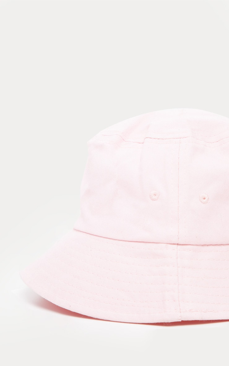 Pink Plain Bucket Hat 3