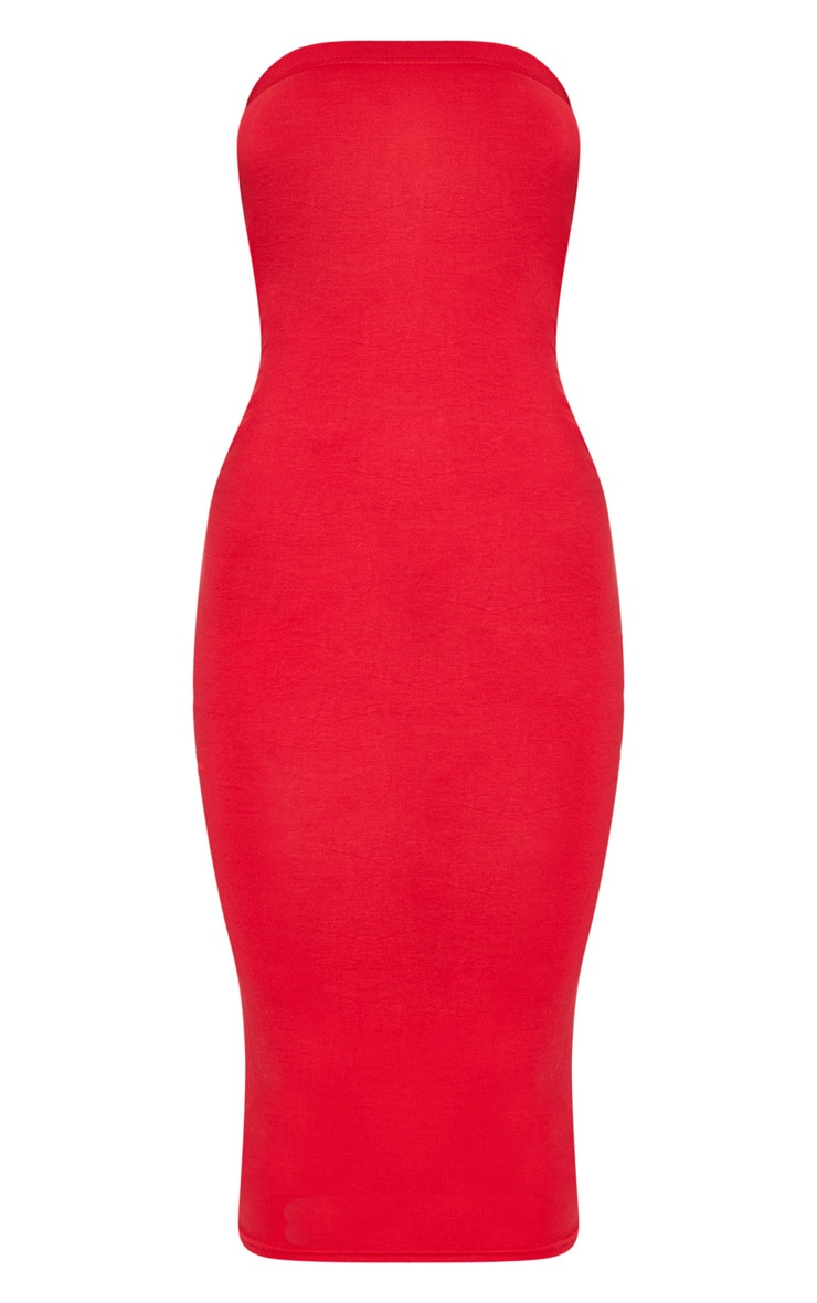 Red Bandeau Midaxi Dress 5
