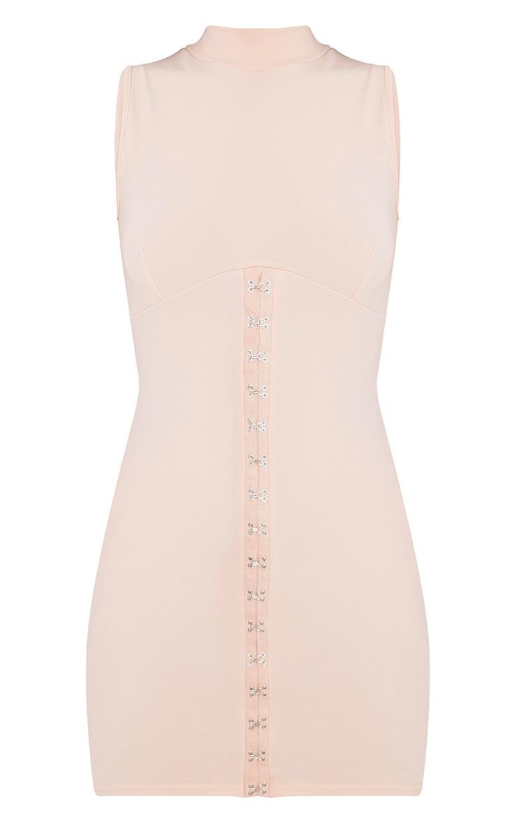 Mariana Nude Eyelet Detail Bodycon Dress  3