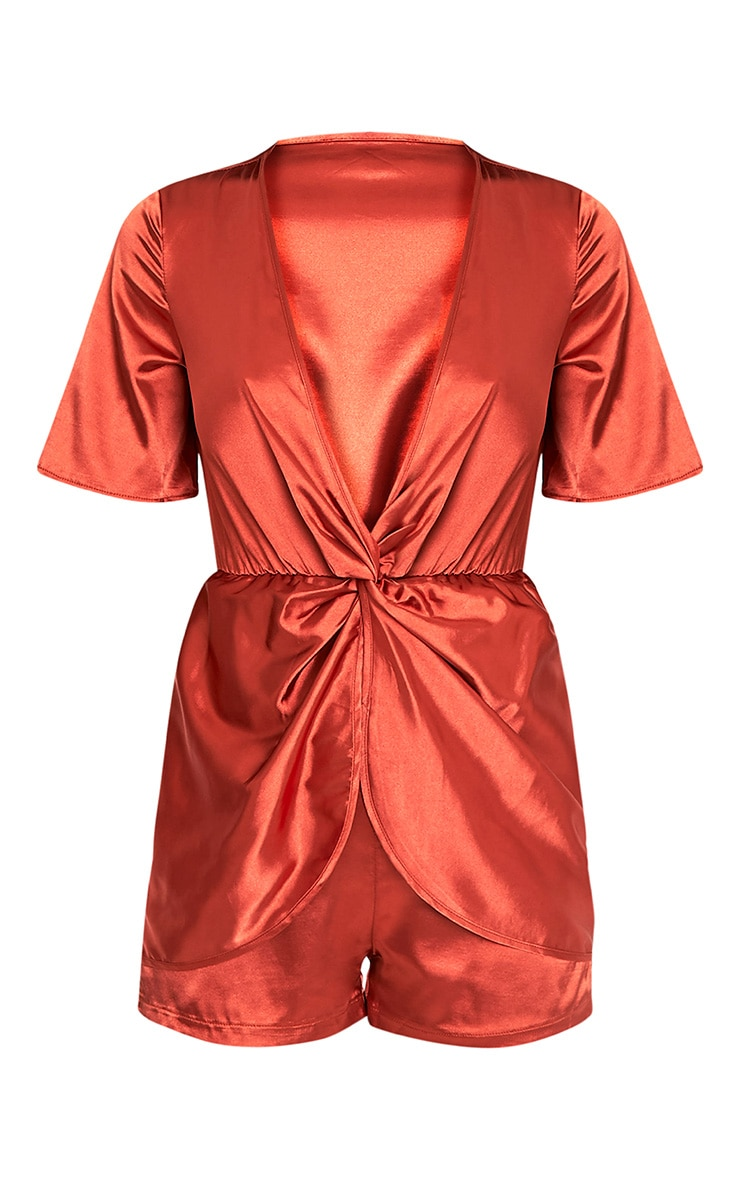 Hilary Tobacco Knot Front Playsuit 4