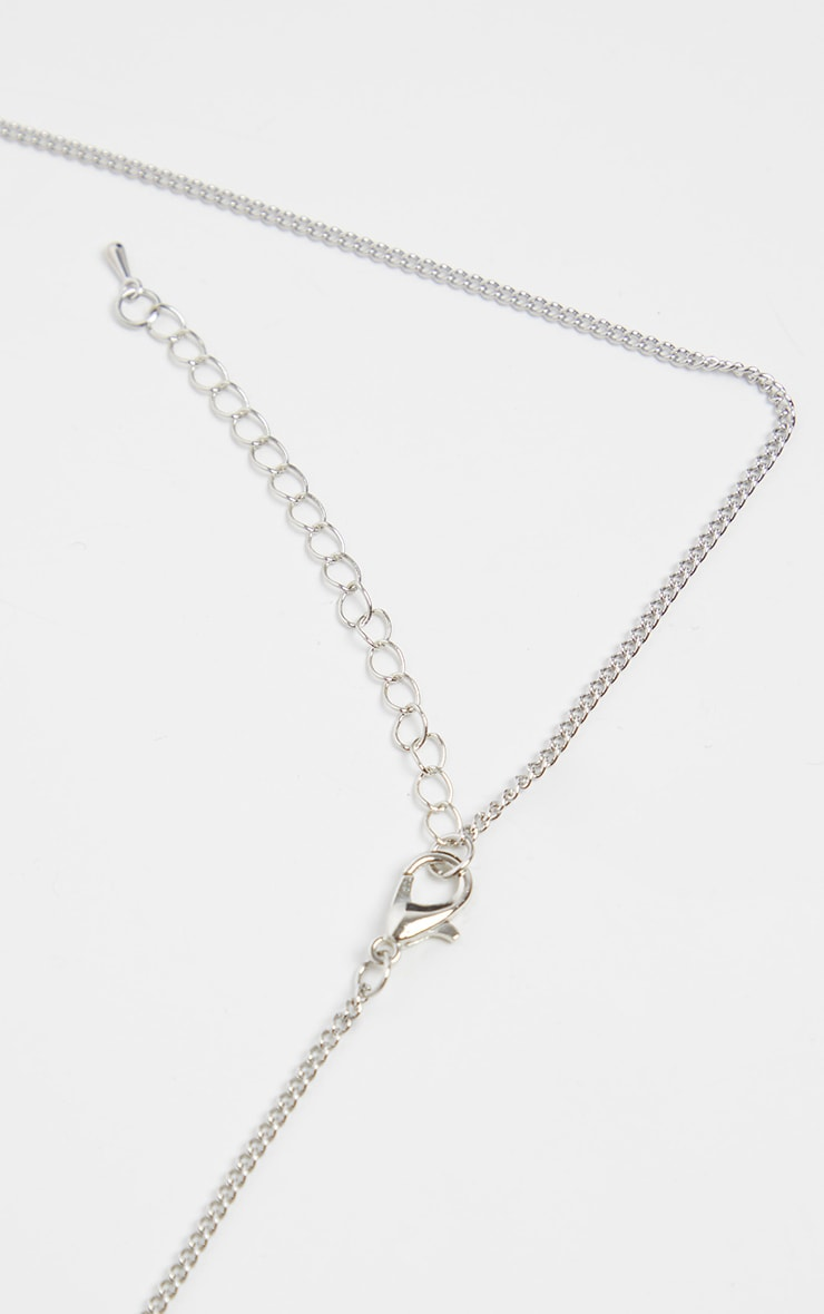 Silver Heart Lock Necklace 3