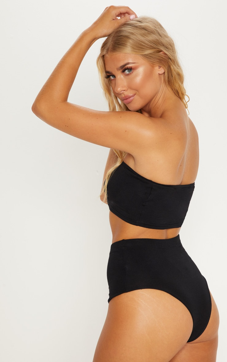 Black Basic Bandeau Co-Ord 2
