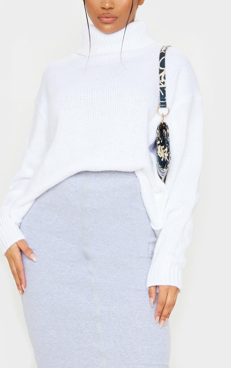 Grey Rib Seam Detail Maxi Skirt 5