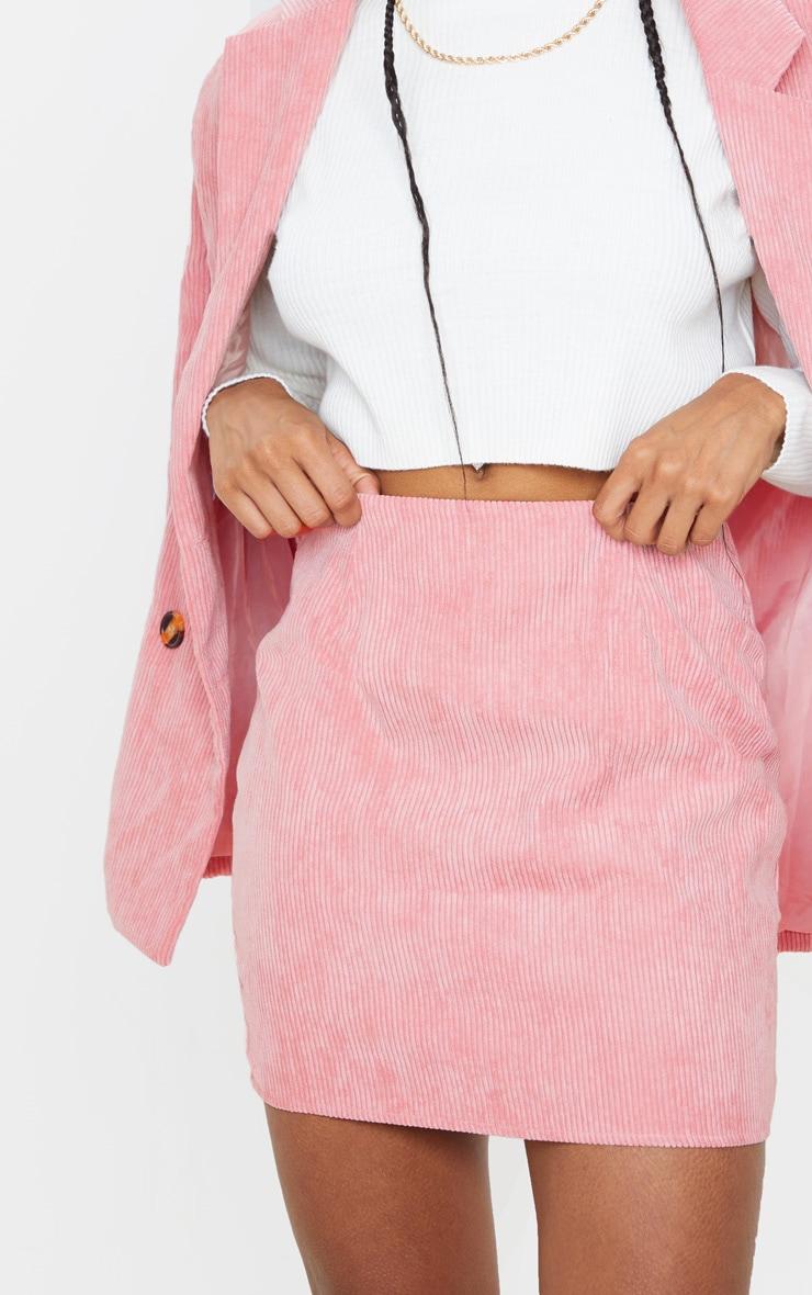 Pink Cord Mini Skirt 6
