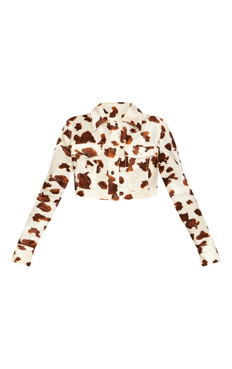 Cream Cow Print Jacket 3