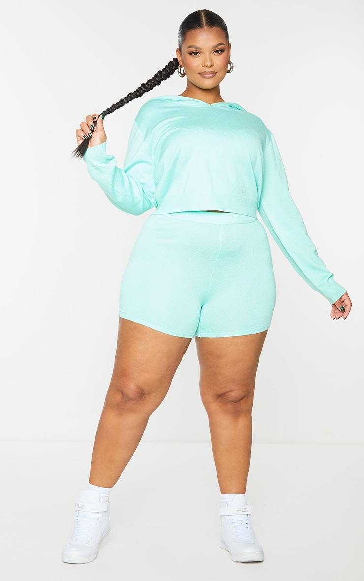 Plus Mint Knit Cycle Shorts 1