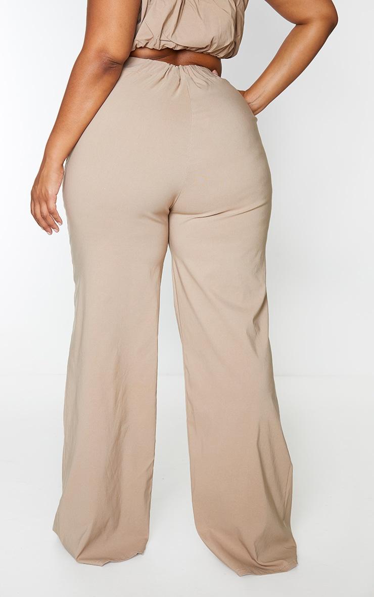 Plus Stone Woven Wide Leg Fit Trouser 3