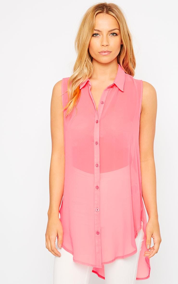 Kaley Pink Sheer Shirt 4