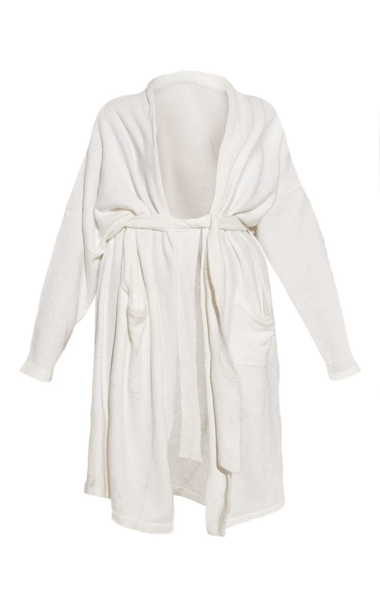 RENEW Plus Cream Knitted Slouchy Belted Midaxi Cardigan 5
