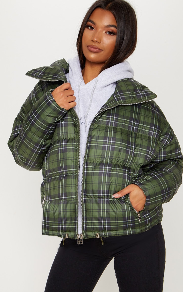 Green Checked Puffer