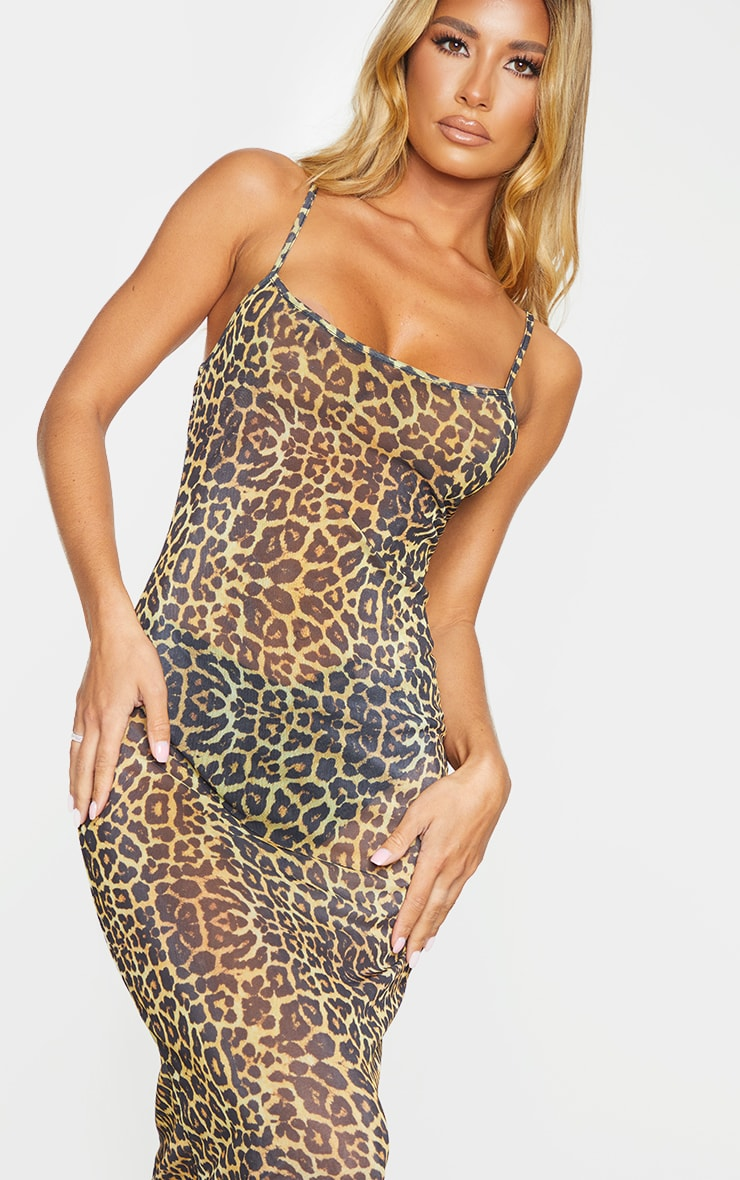 Leopard Mesh Maxi Beach Dress 5