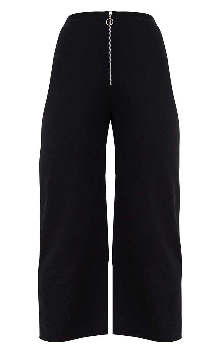 Black Ring Zip Culottes 3