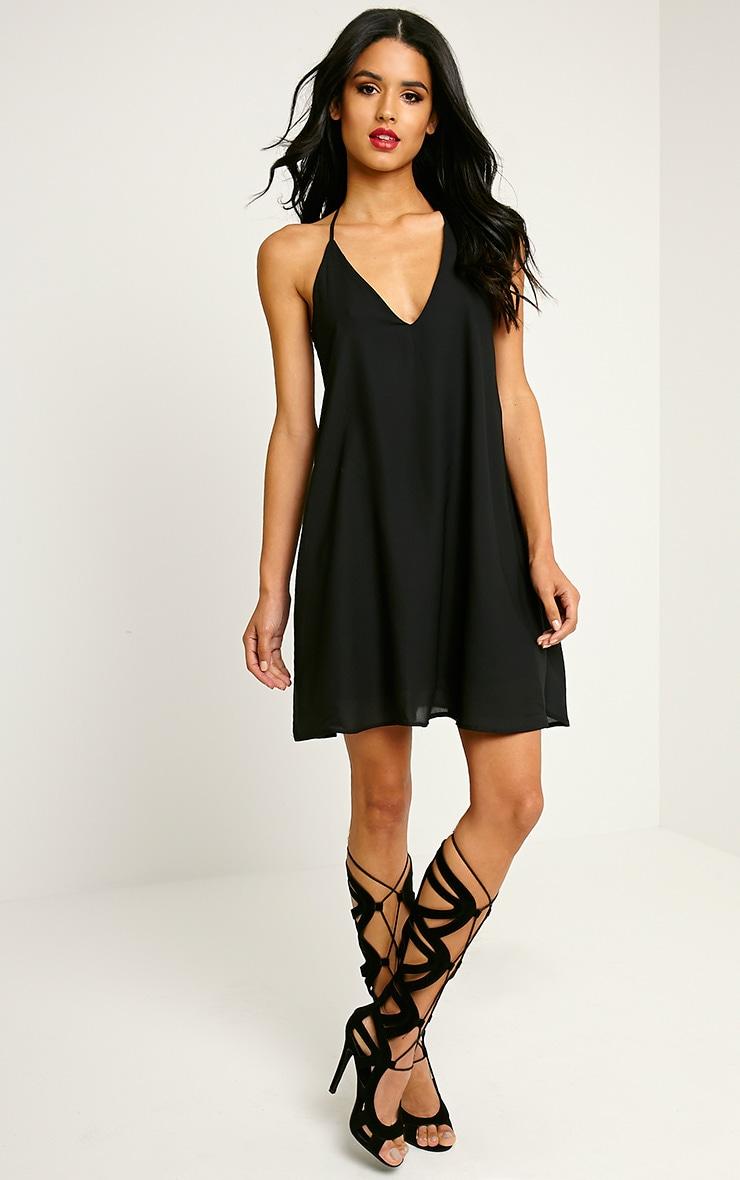 Roxana Black Caged Back Dress 3