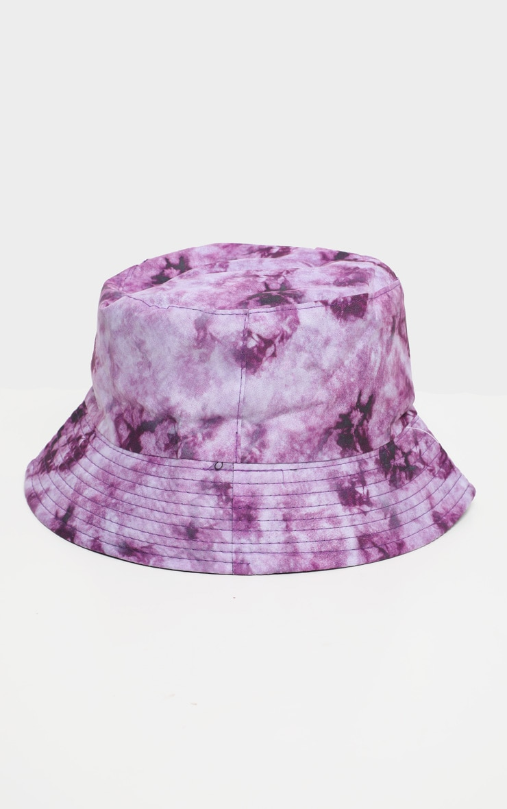 Purple Tie Die Bucket Hat   2
