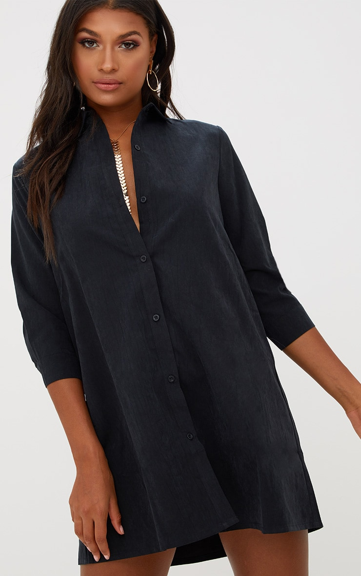 Leni Black Shirt Dress 1