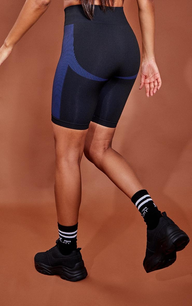 Black Mini Seamless Shorts 3
