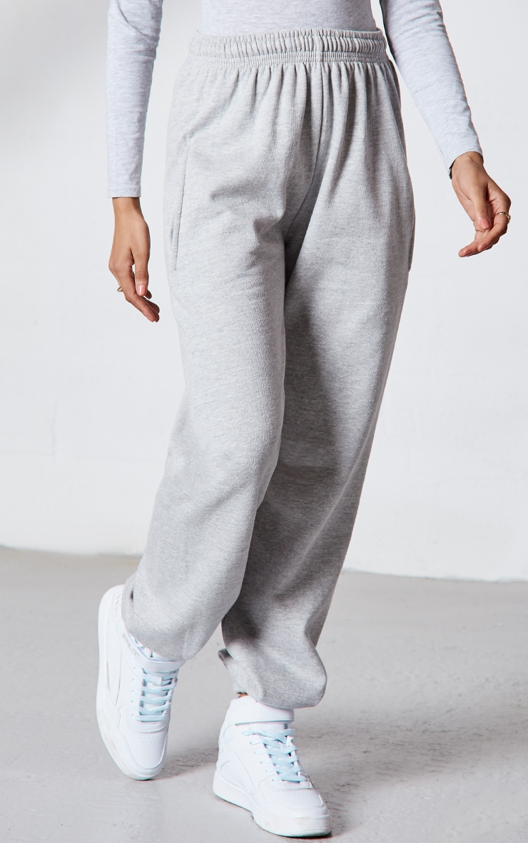 PRETTYLITTLETHING Grey Branded Apparel Joggers 2