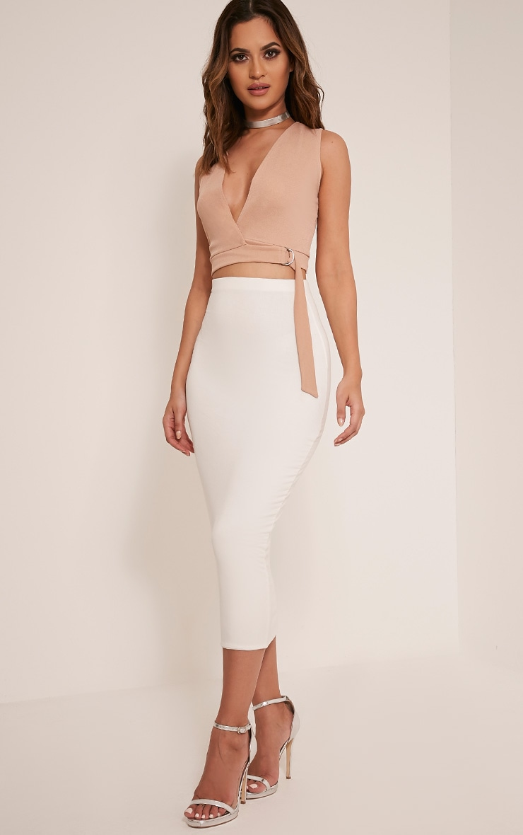 Aoife Stone D Ring Wrap Crop Top 5