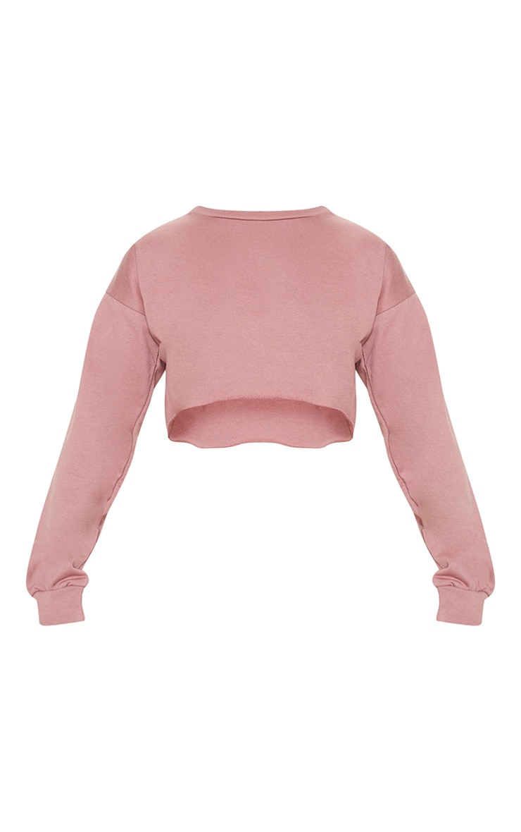 Mauve Cut Off Crop Longsleeve Sweater 3