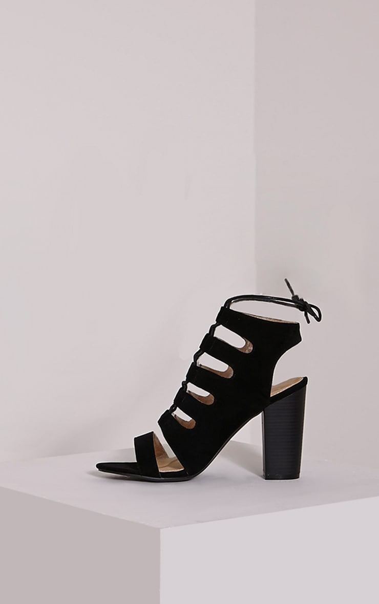 Emerson Black Cut Out Sandals 4