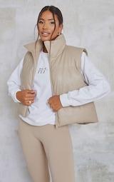 Truffle Faux Leather Gilet 1