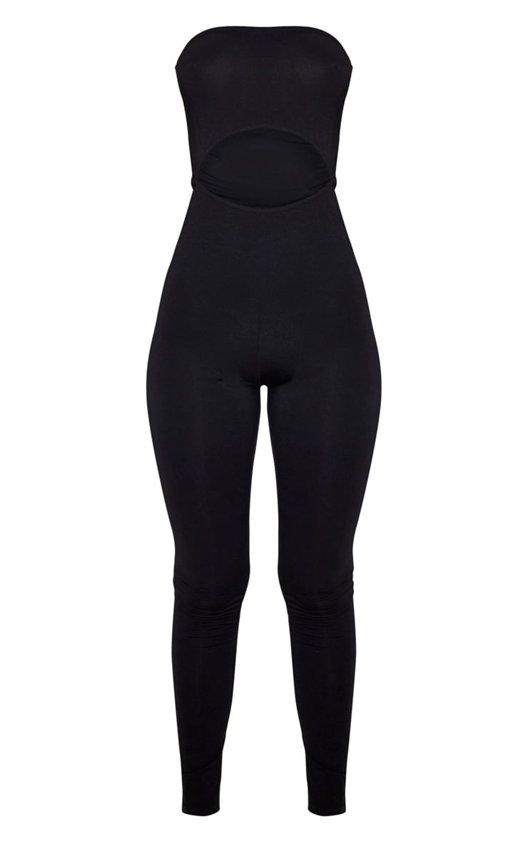 Black Bandeau Cut Out Jumpsuit 3