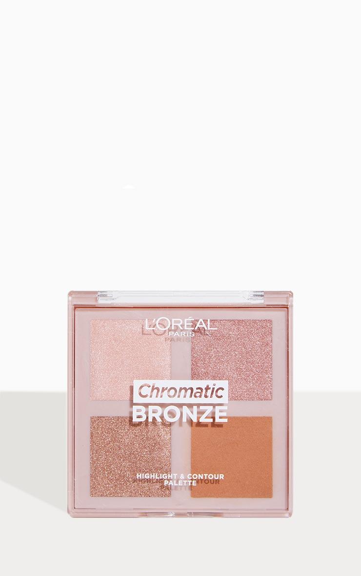 L'Oreal Paris Chromatic Bronze Highlight and Contour Palette  1