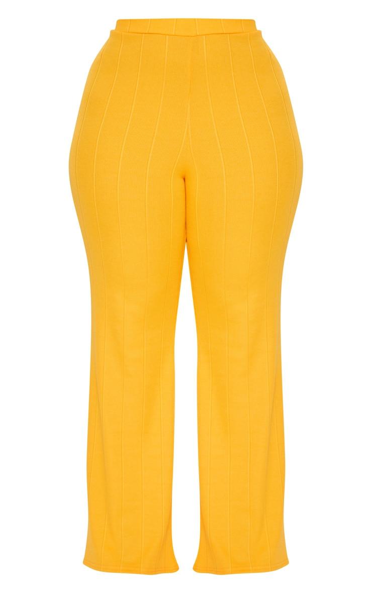 Plus Tangerine Bandage Wide Leg Trousers 3