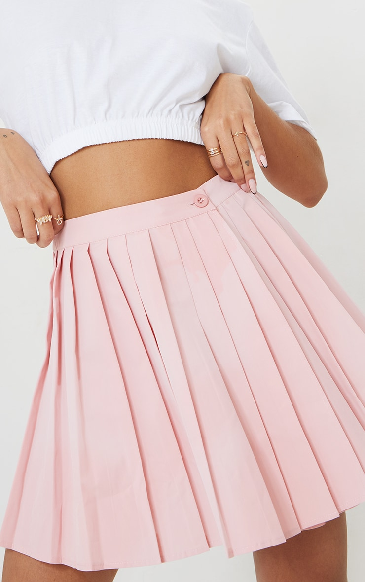 Bubblegum Pink Peach Skater Skirt 5