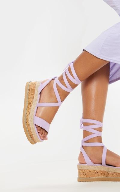 802c786ab Lilac Niella Espadrille Flatform Sandals