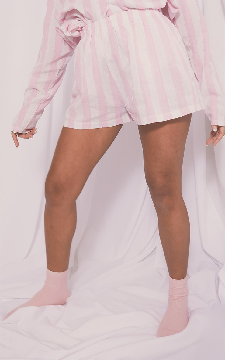 Pink Mix And Match Wide Stripe Cotton PJ Shorts 2