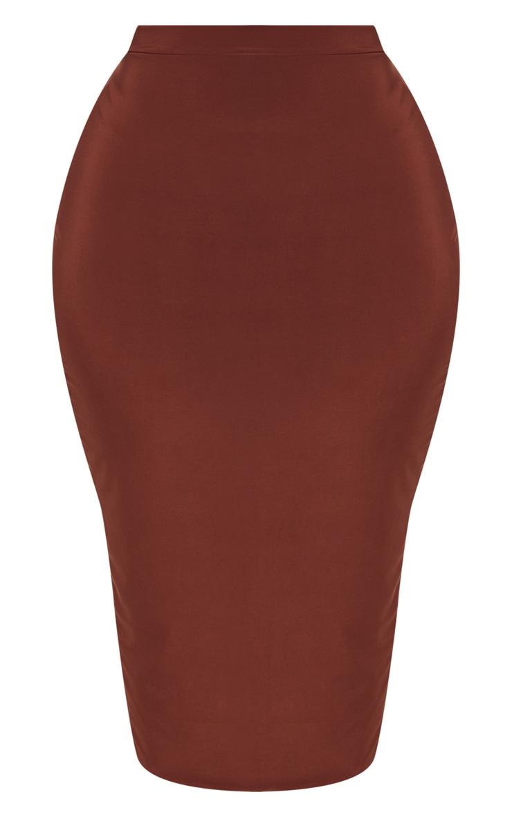 Plus Chocolate Slinky Midi Skirt 3