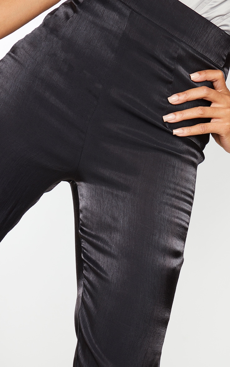 Black Iridescent Flared Pants 4