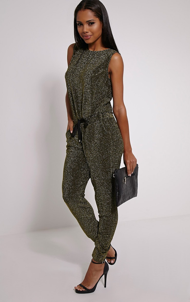 Monet Gold Glitter Jumpsuit 3