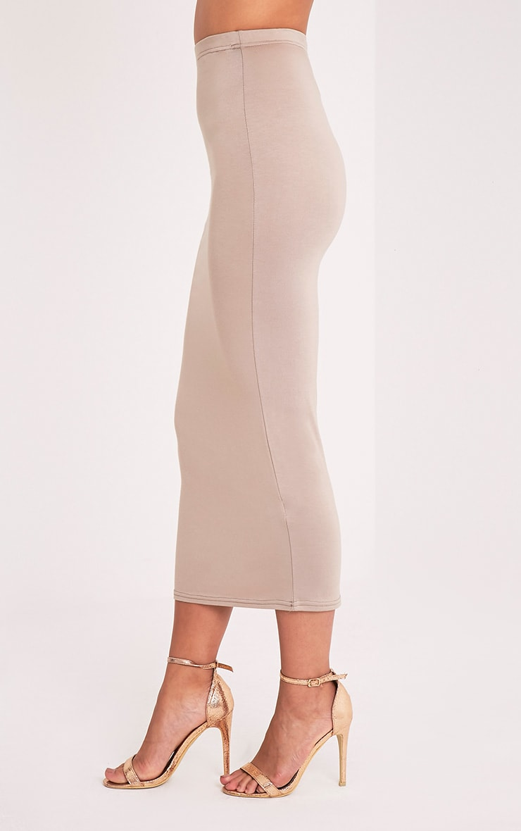 Basic Taupe Midaxi Skirt 4