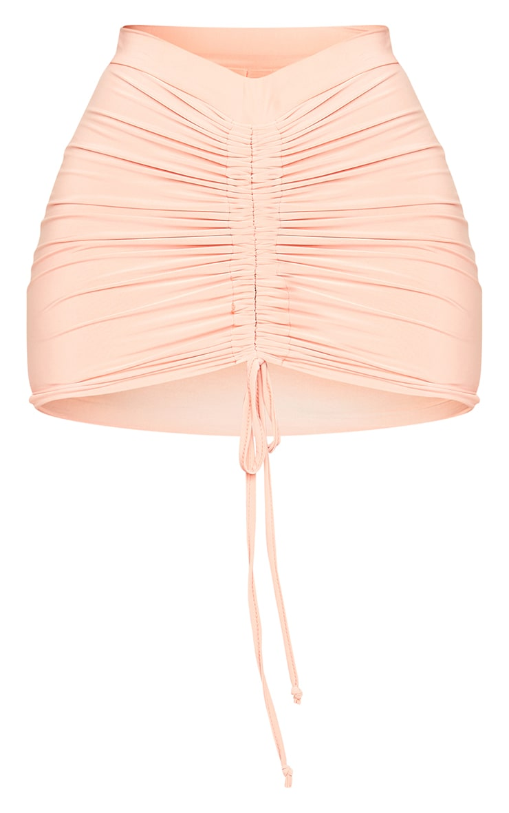 Shape Peach Slinky Ruched Front Bodycon Skirt 6