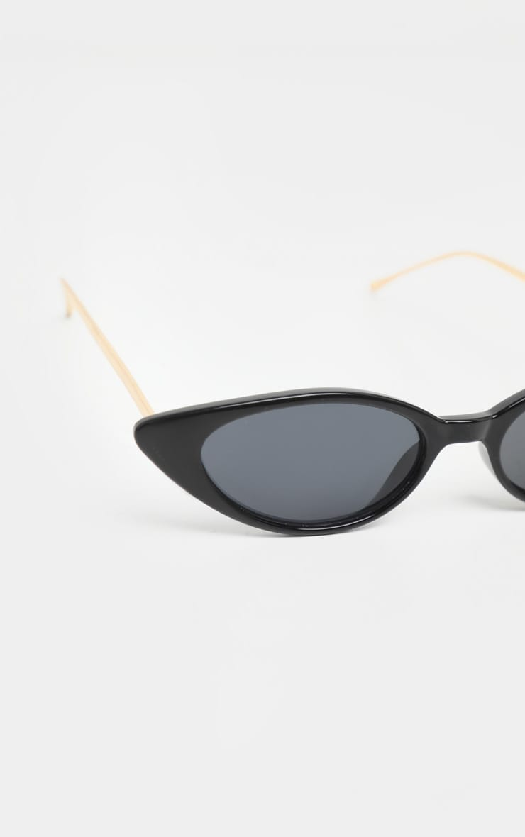 Black Cat Eye Retro Frame Sunglasses 4