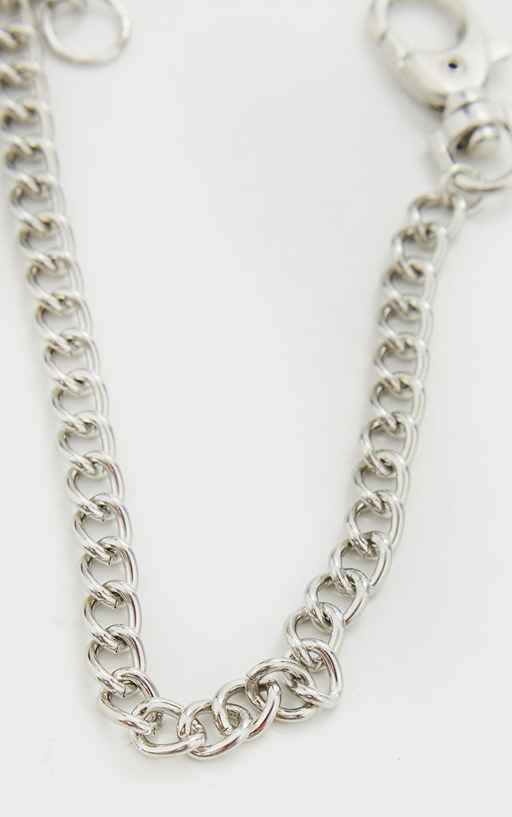Silver Clip Chain Anklet 3