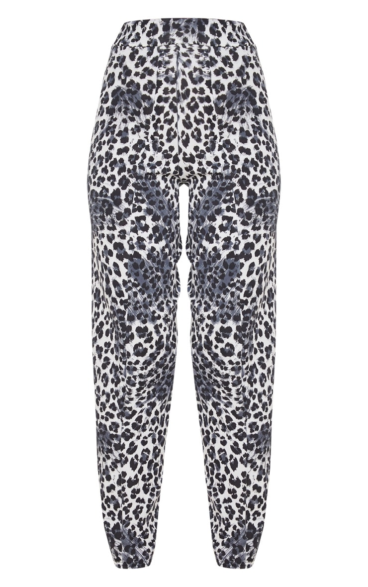 White Snow Leopard Skinny Pants 3